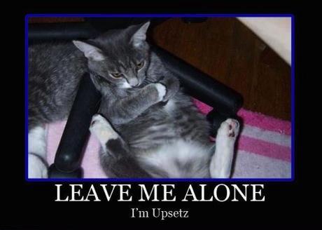 leave me alone - upset