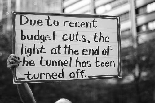 light at the end of the tunnel has been turned off